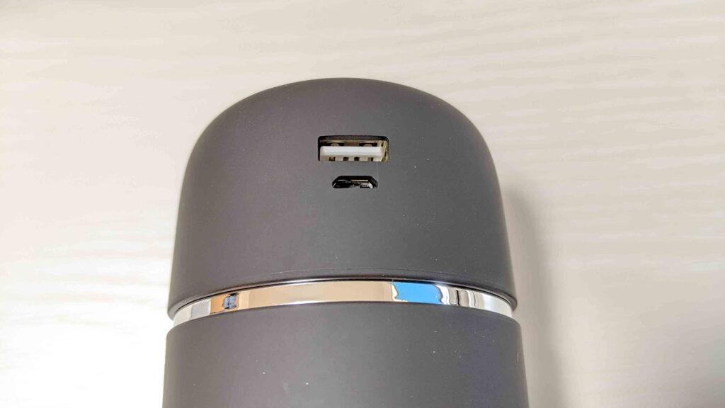 超音波加湿器のUSB端子