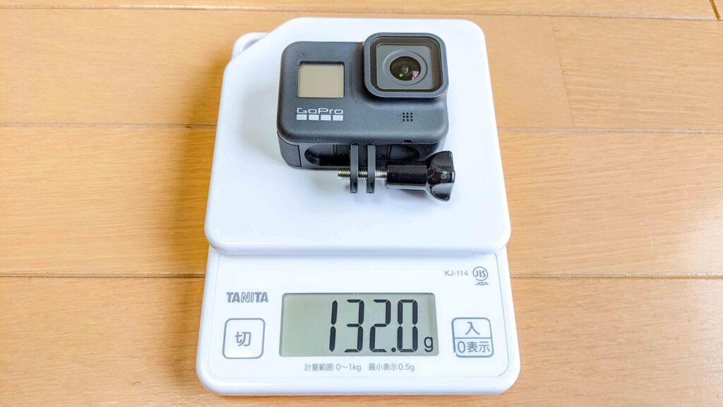 GoProの重さ