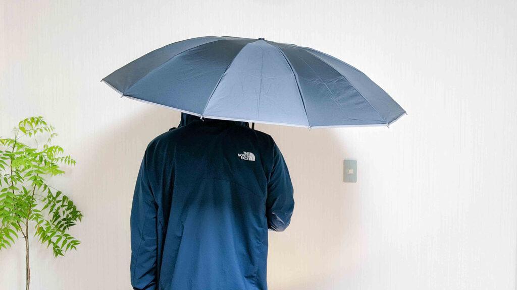 傘を差した様子01